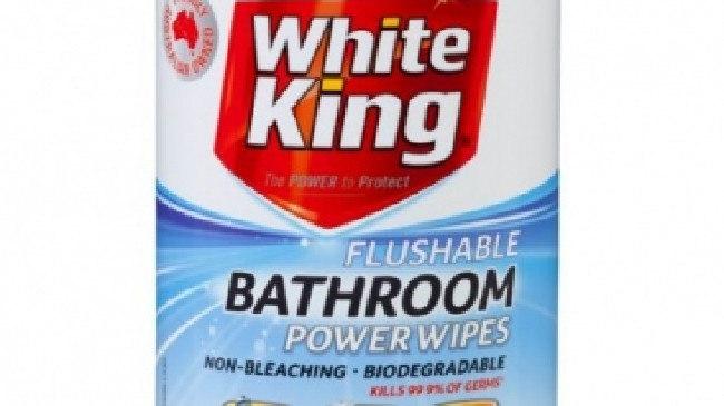 White King flushable wet wipes.