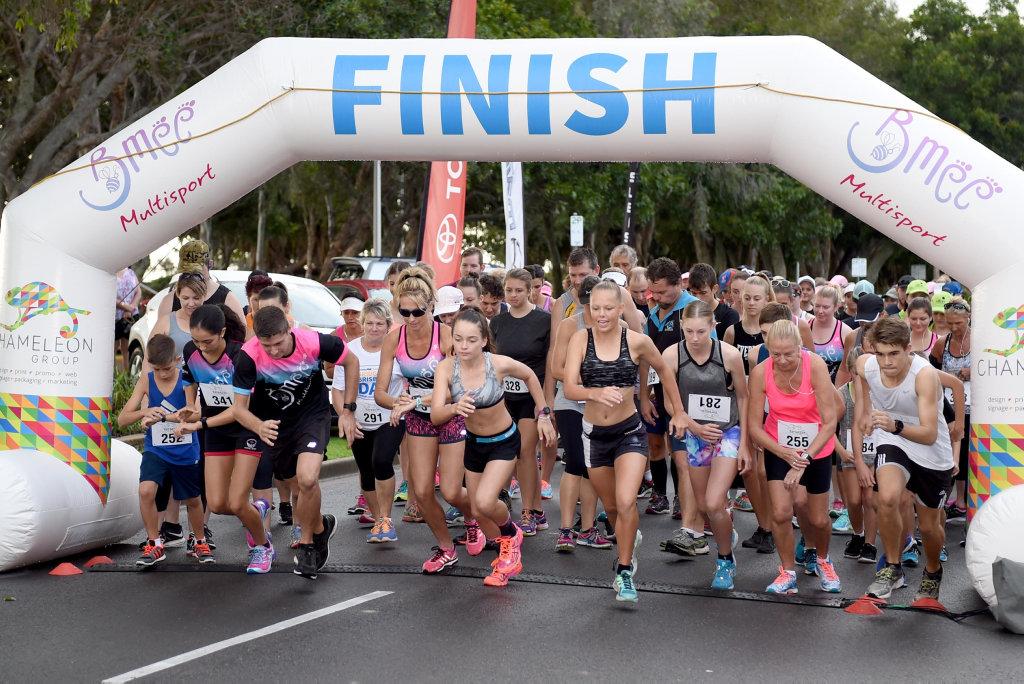 The Bay Break Multisport Festival, Hervey Bay - The 5km run event.