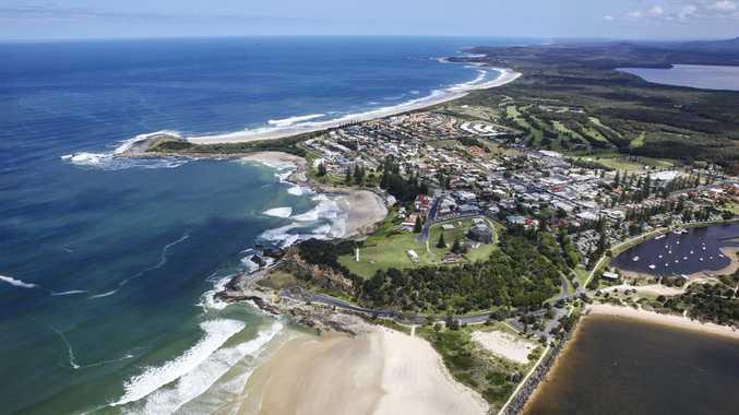 Yamba beaches aerial.