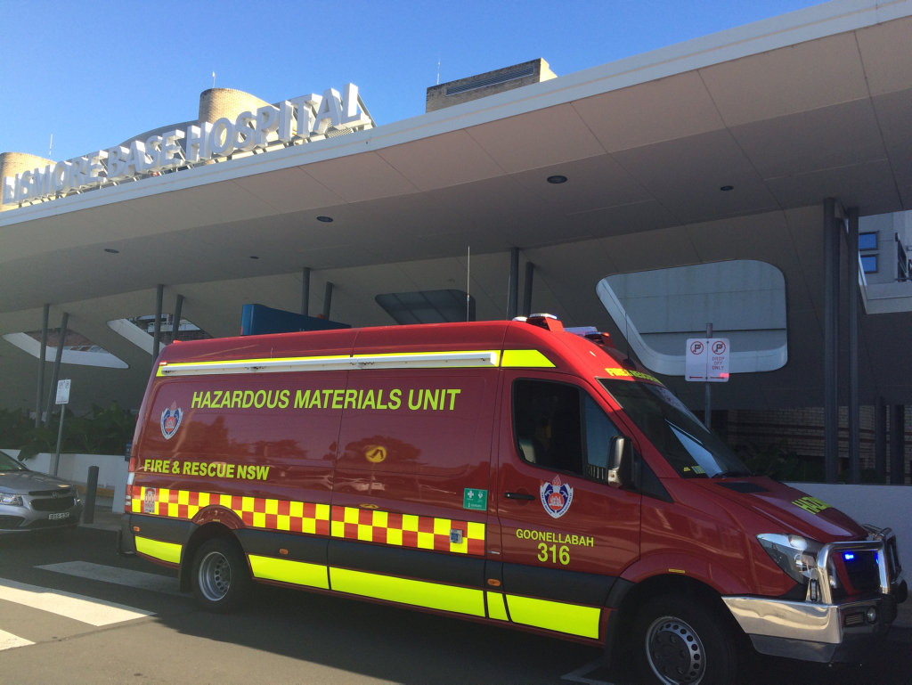 Hazmat crews have been called to Lismore Base Hospital after a toxic gas leak.