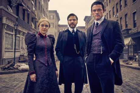 Dakota Fanning, Daniel Bruhl and Luke Evans star in the TV series The Alienist.