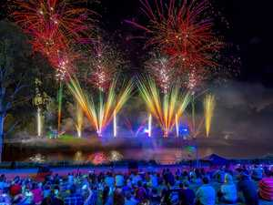 Ipswich Festival's spectacular Fire on the River display