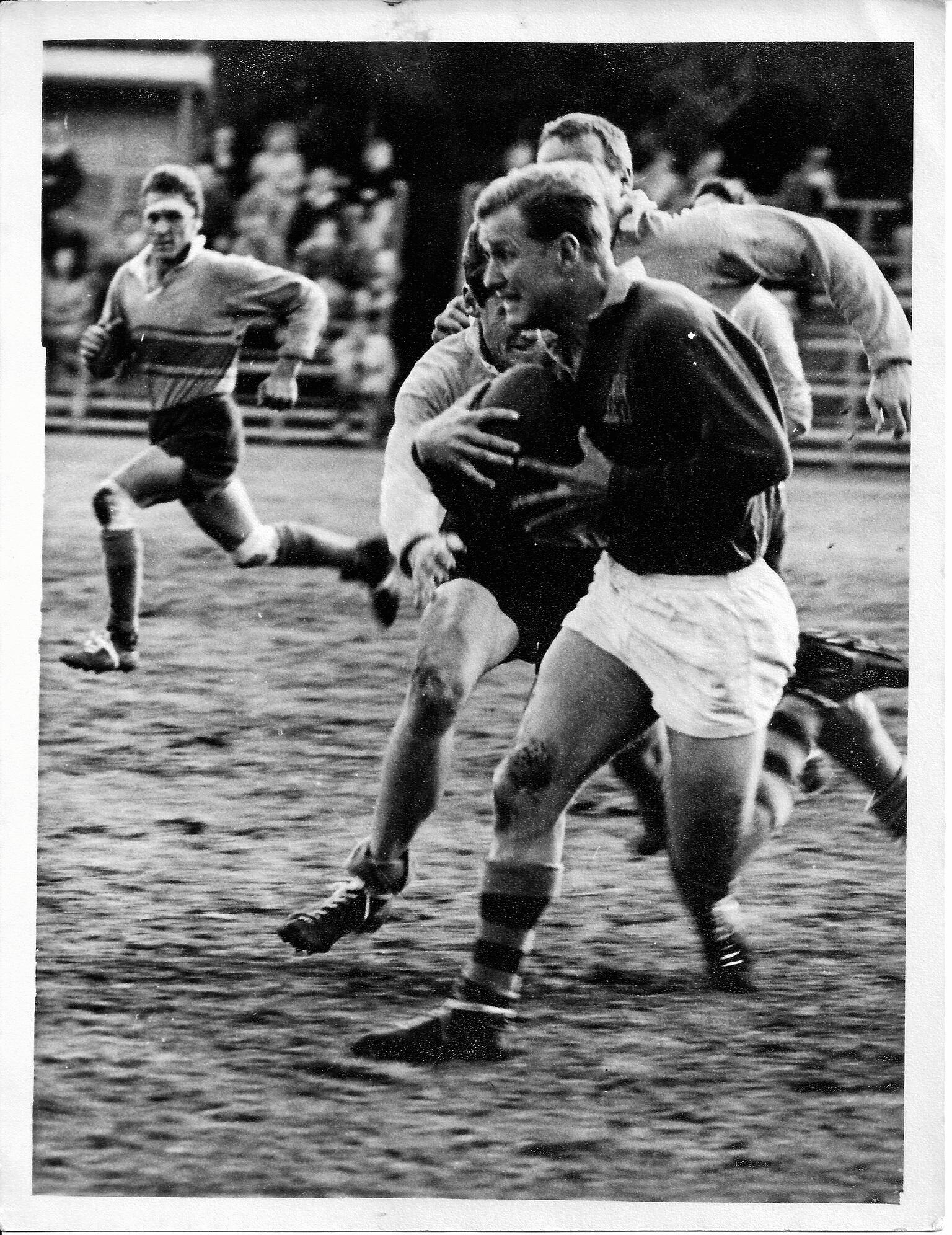 .Russell Stitz playing for Wests rugby c1964