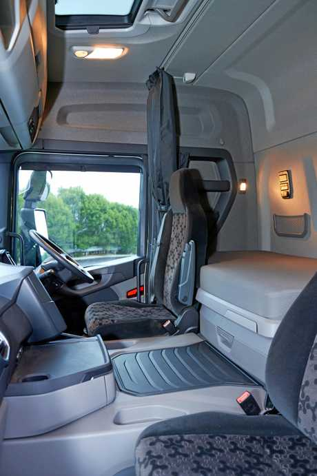 The interior of Scania's New Truck Generation G500 b-double
