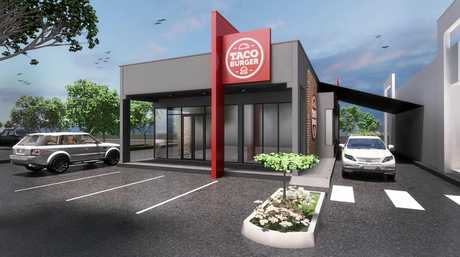 An Artist impression of what the new Taco Burger store will look like in Jimboomba.