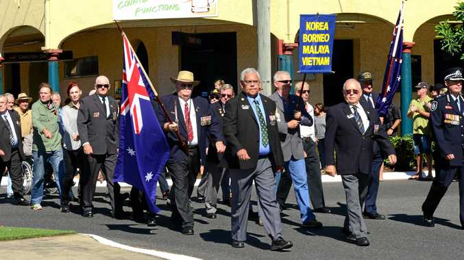 LEST WE FORGET: Casino honours the Anzacs with a march and commemorative service each year.