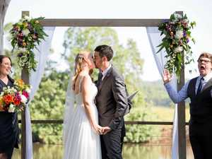 Picturesque river setting for vows