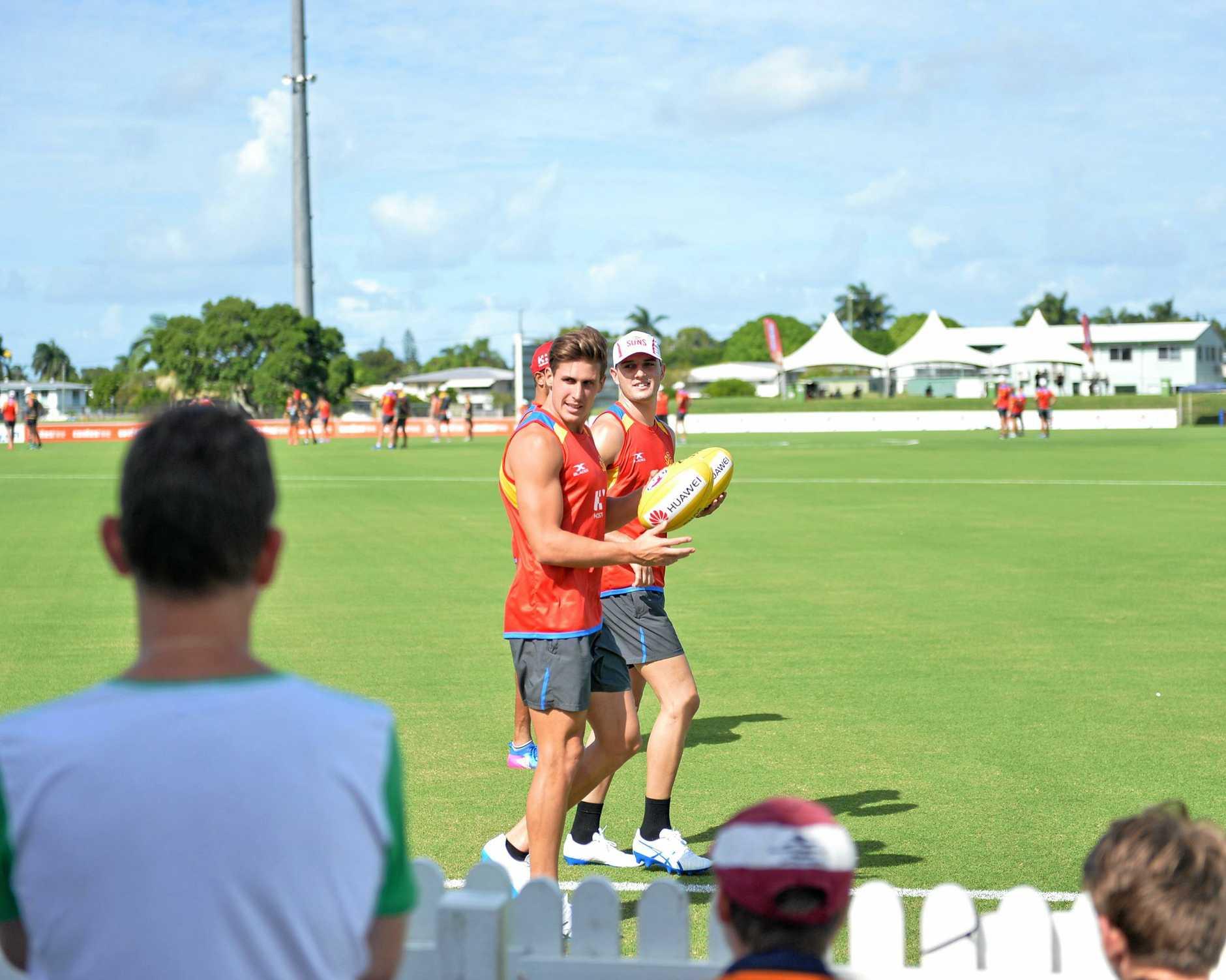 Gold Coast Sun's open training session at Harrup Park on Saturday, February 25, 2017.
