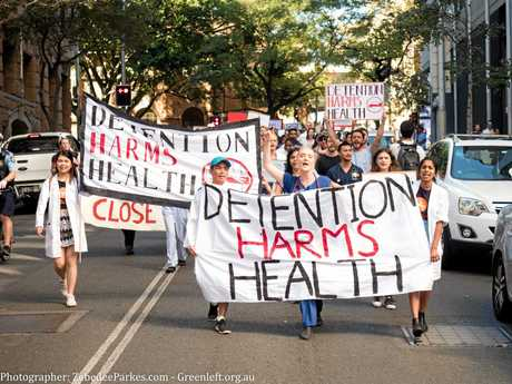TAKING A STAND: The Detention Harms Health march in Sydney.