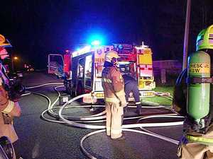 Firefighters on scene of blaze saved a row of houses