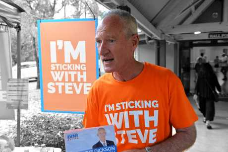 Queensland One Nation Leader Steve Dickson at Buderim polling booths.