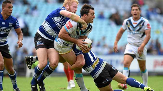 ON THE BALL: Ex-player David Shillington when he was playing for the Gold Coast Titans.