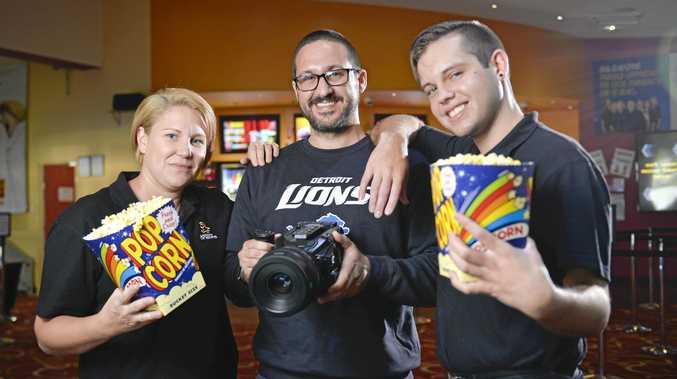 ACTION: Submissions are now open for next year's Capricorn Film Festival. Organiser of the festival Luke Graham with Gladstone Cinema's Renee Kornbrekke and Aidan Lisle.