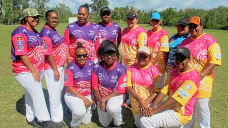 The two Rockhampton women's teams who played an exhibition match at the curtain raiser to the Stan Alberts Shield final last year.