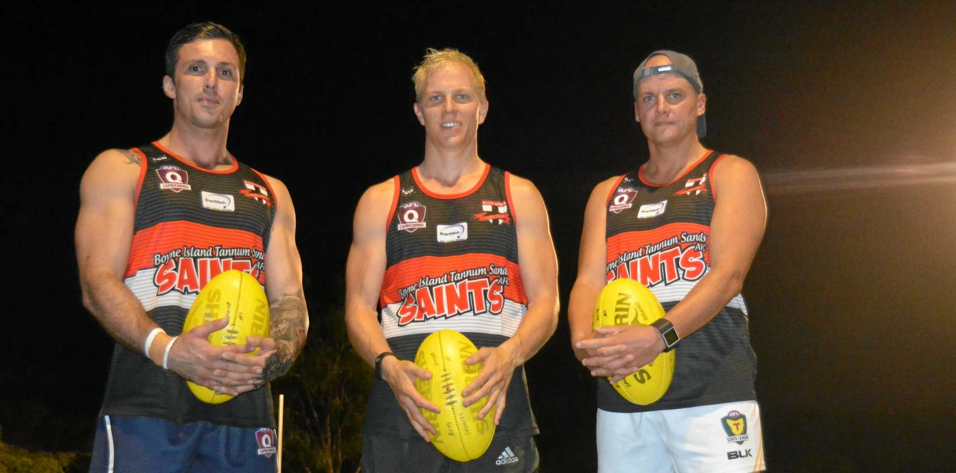 GUN SIGNINGS: Sam Schofield, Brock Rother and Mark Jensen are just some new recruits at the Saints.