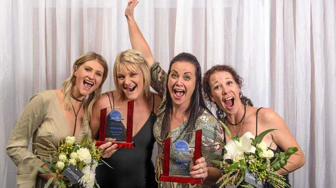 The crew from Flowers by Bonnie celebrate their two awards, including the Popular Choice Business at the Clarence Valley Business Awards