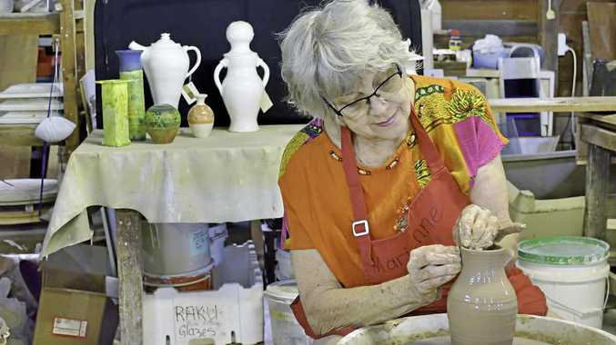 NEVER BORING: Marienne Stollery says there is always something new to create and discover as a member of the Central Coast Potters Society.