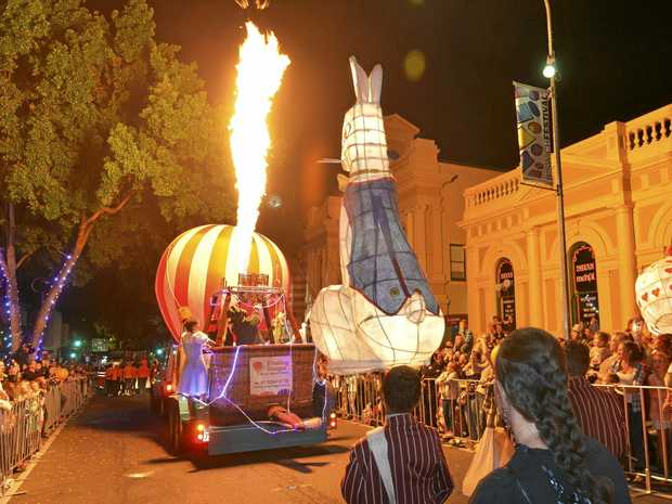 BIG NIGHT: Favourite storybook characters will come to life in an energetic, lively and colourful celebration of everything wondrous at the Festival Parade of Light, this shot taken of last year's parade.