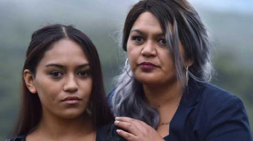 Sadonia Folimatama (left) and her mother Irene Harris. Picture: Peter McIntosh/NZ Herald