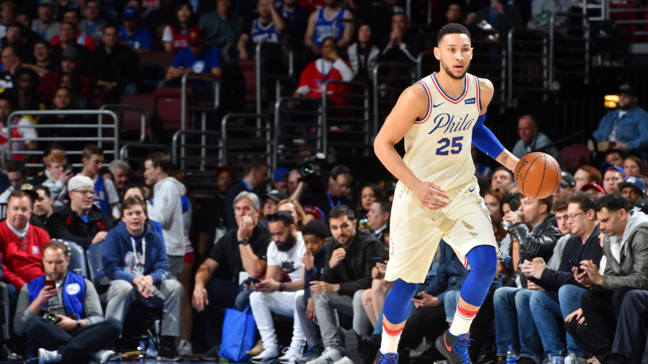 Ben Simmons in action for the Philadelphia 76ers who are headed into postseason for the first time in six years.