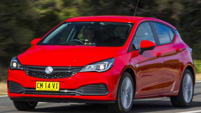Overstocked: Holden is discounting the Astra small car. Photo by Mark Bean