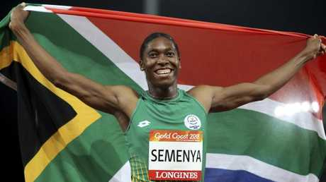 Semenya became the third woman to do the 800-1500m double at a single Commonwealth Games. Picture: AP Photo/Mark Schiefelbein