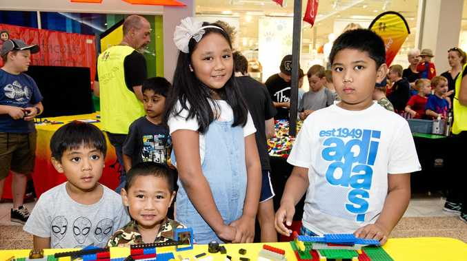 Playing with Lego are (from left) Joshua, James, Rolynne and RJ Delatado.