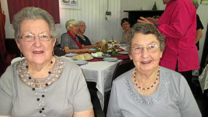 FRIENDSHIP: Celine Stephens and Joan Bourke from Hermitage-Yangan Branch enjoying a friendship morning at Killarney.