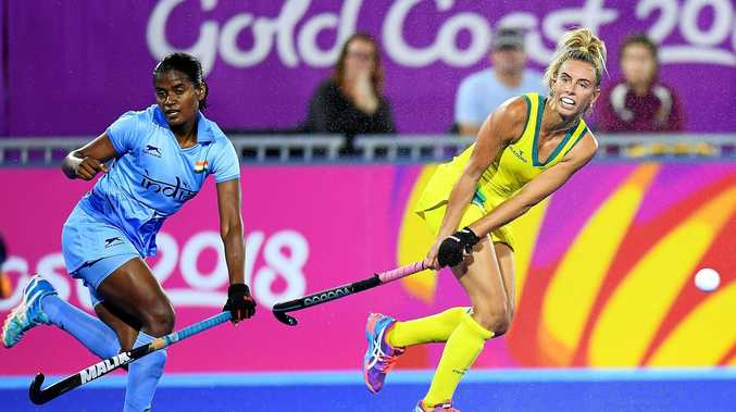 GOLDEN: Gabrielle Nance fought tooth and nail to ensure Australia made it past India in Thursday night' semi-final.