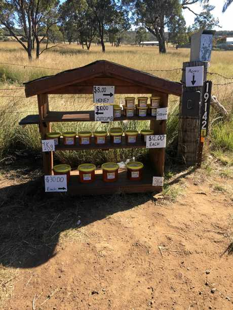 About $2000 in cash and honey has been stolen from the stand.