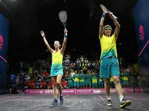 Yamba's squash stars win mixed doubles gold