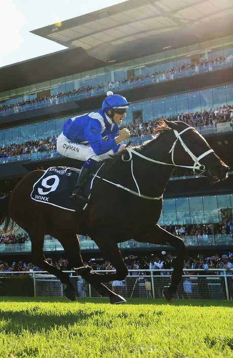 Doesn't get much better than this: Hugh Bowman and Winx. Picture: Getty Images