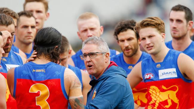 Lions coach Chris Fagan lets his players know what's on his mind.
