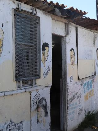 The outside of the barber shop in Langa. Picture: Megan Palin.