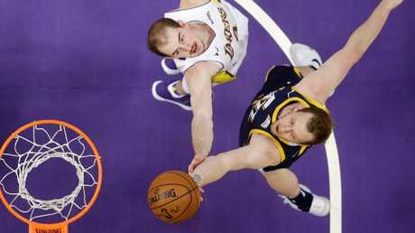 Joe Ingles makes the Utah Jazz a must-watch team for Aussie basketball fans. Picture: AP