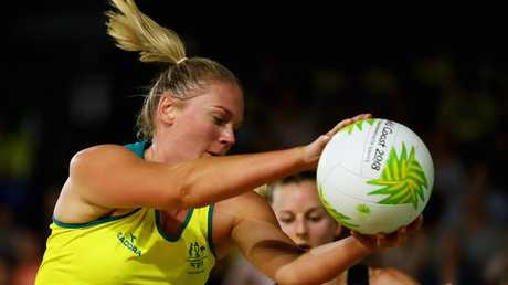 Caitlin Thwaites in action against New Zealand.