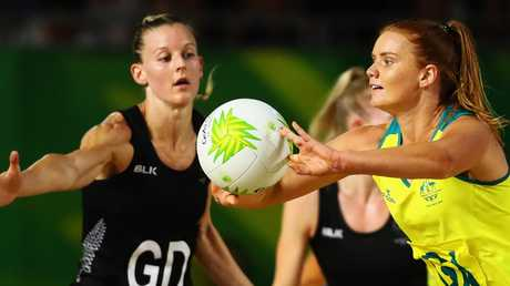 Steph Wood passes as Australia downed New Zealand to take them through to the final.