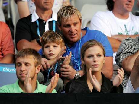 Watching Andy Roddick at the Australian Open.