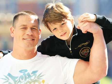 Meeting WWE superstar John Cena.