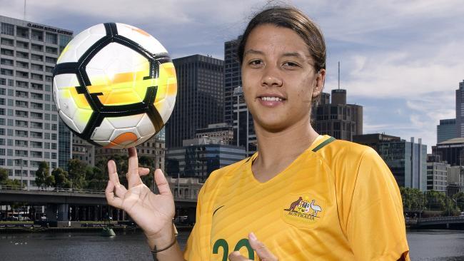 Matildas gun Sam Kerr has helped Australia get out of trouble against Japan.