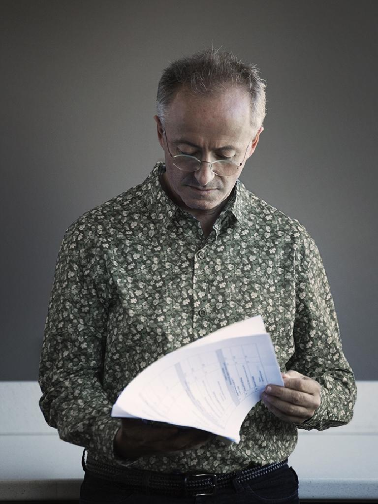 The former Enough Rope host checks a script. Picture: Supplied/Seven.