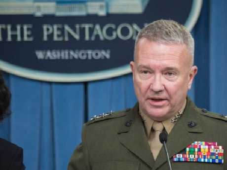 Lt Gen Kenneth McKenzie has talked about the strike on Syria.  Picture:  Supplied