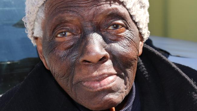 Violet Tshwili has lived in the Langa settlement on the outskirts of Cape Town for all of her 87 years. Picture: Megan Palin.