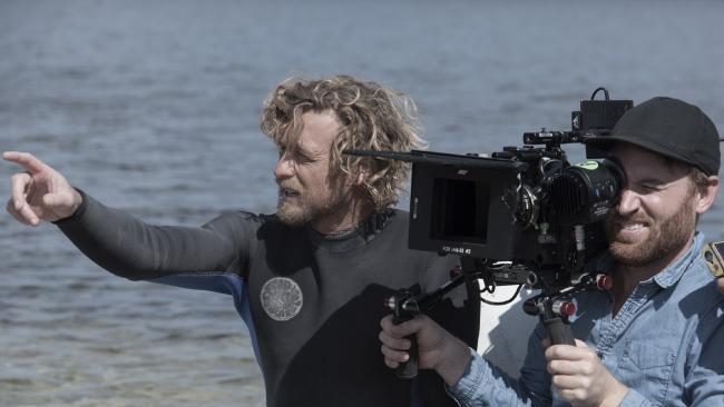 Simon Baker in director mode. Photo: David Dare Parker