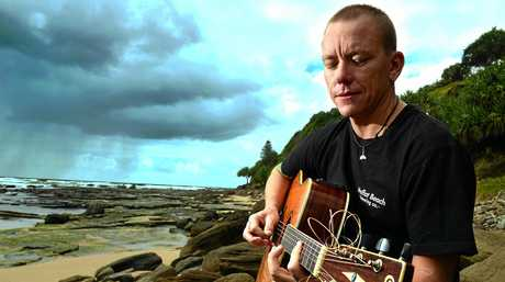 LIFE'S LOOKING UP: Danny Constable has reinvented himself as a guitarist after suffering from Chronic Fatigue Syndrome for years.