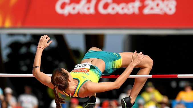 LEARNING CURVE: Ipswich high jumper Cassie Purdon gains valuable experience representing Australia at her first Commonwealth Games.