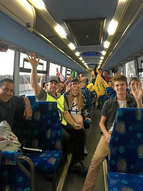 Three Whitsunday Transit buses, five drivers and a mechanic have heeded the call to transport passengers around the Gold Coast for the Commonwealth Games.