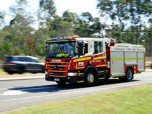 Downs firefighters battle house blaze