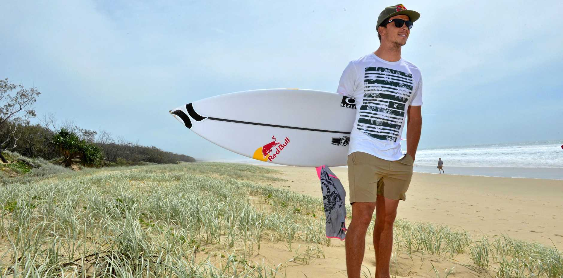 ON THE BEACH: Julian Wilson pictured at Peregian Beach.