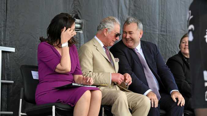 HRH Prince Charles visits the Bundaberg Rum Distillery last week with Annastacia Palaszczuk.
